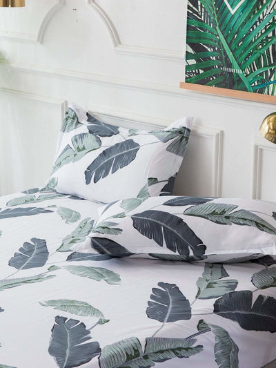 Allover Leaf Print Sheet Set - Bedding Sets