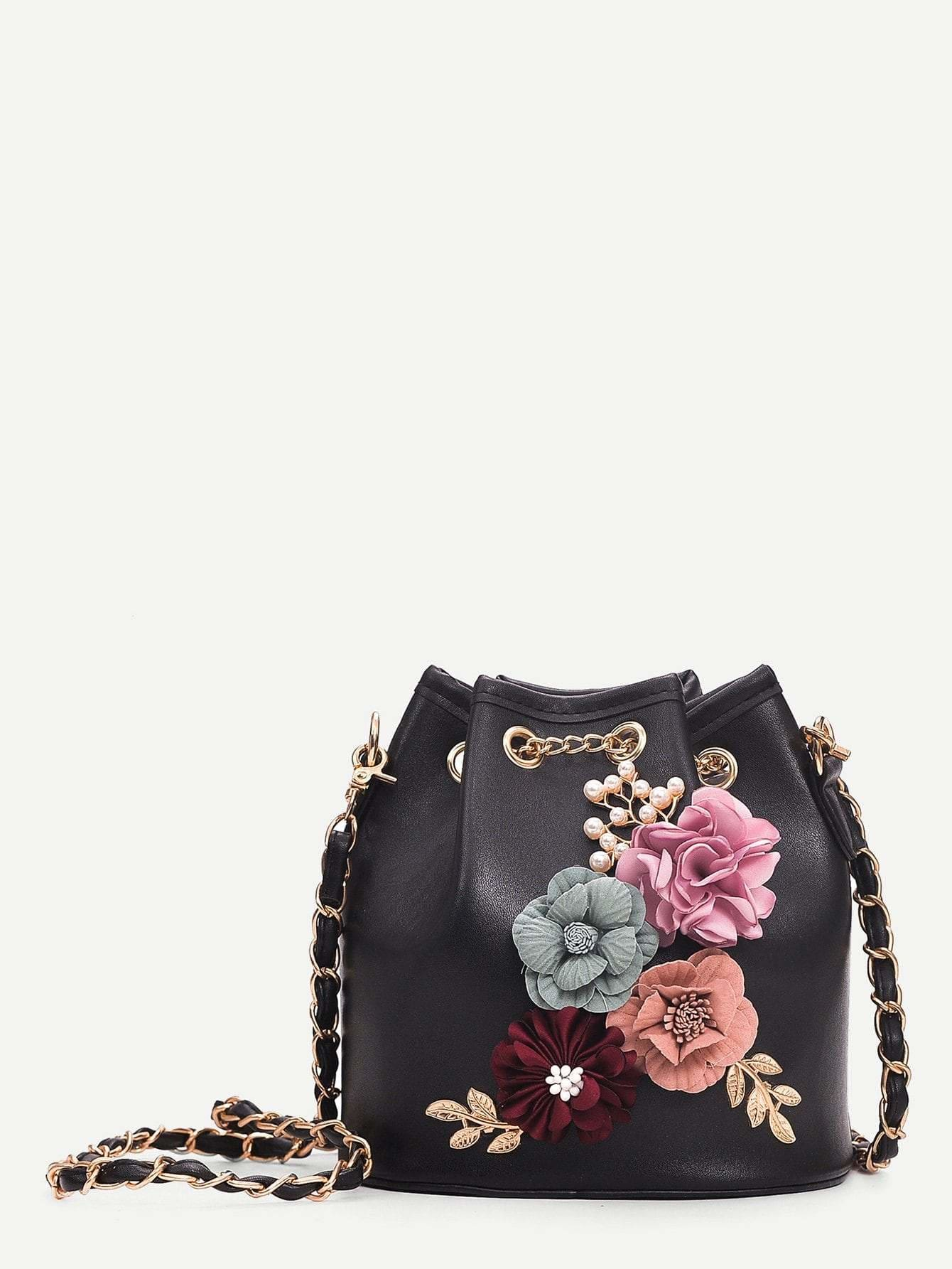 Applique Decor Bucket Bag - Womens Bag