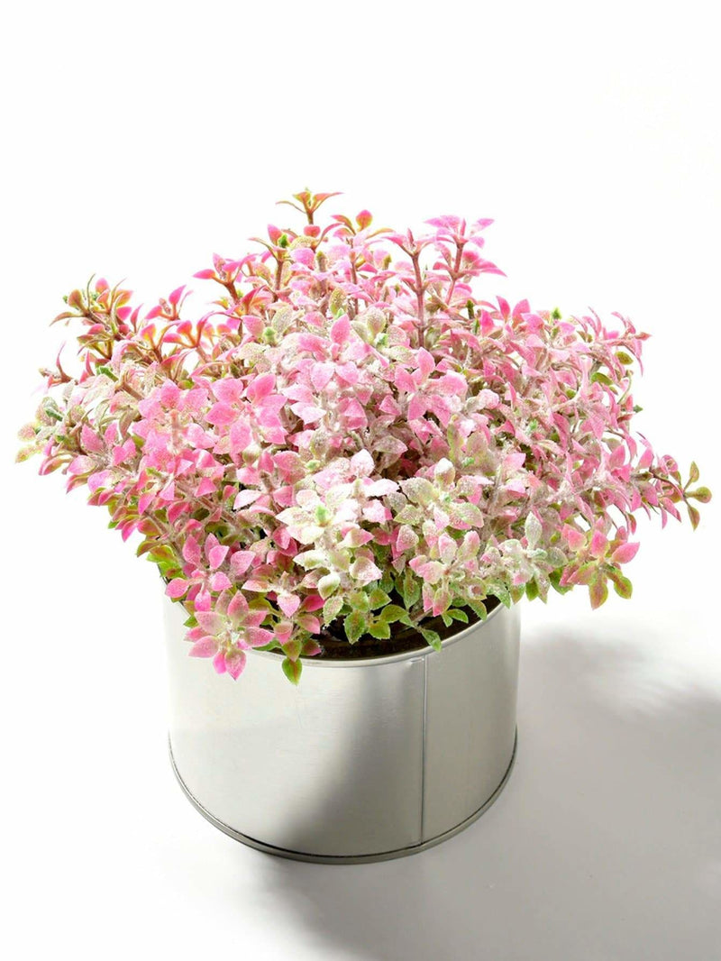 Artificial Flower 8pcs Branch With Iron Pot - Vases & Artificial Flowers