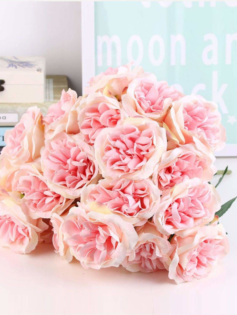 Artificial Flower Bunch With 7pcs Rose - Vases & Artificial Flowers