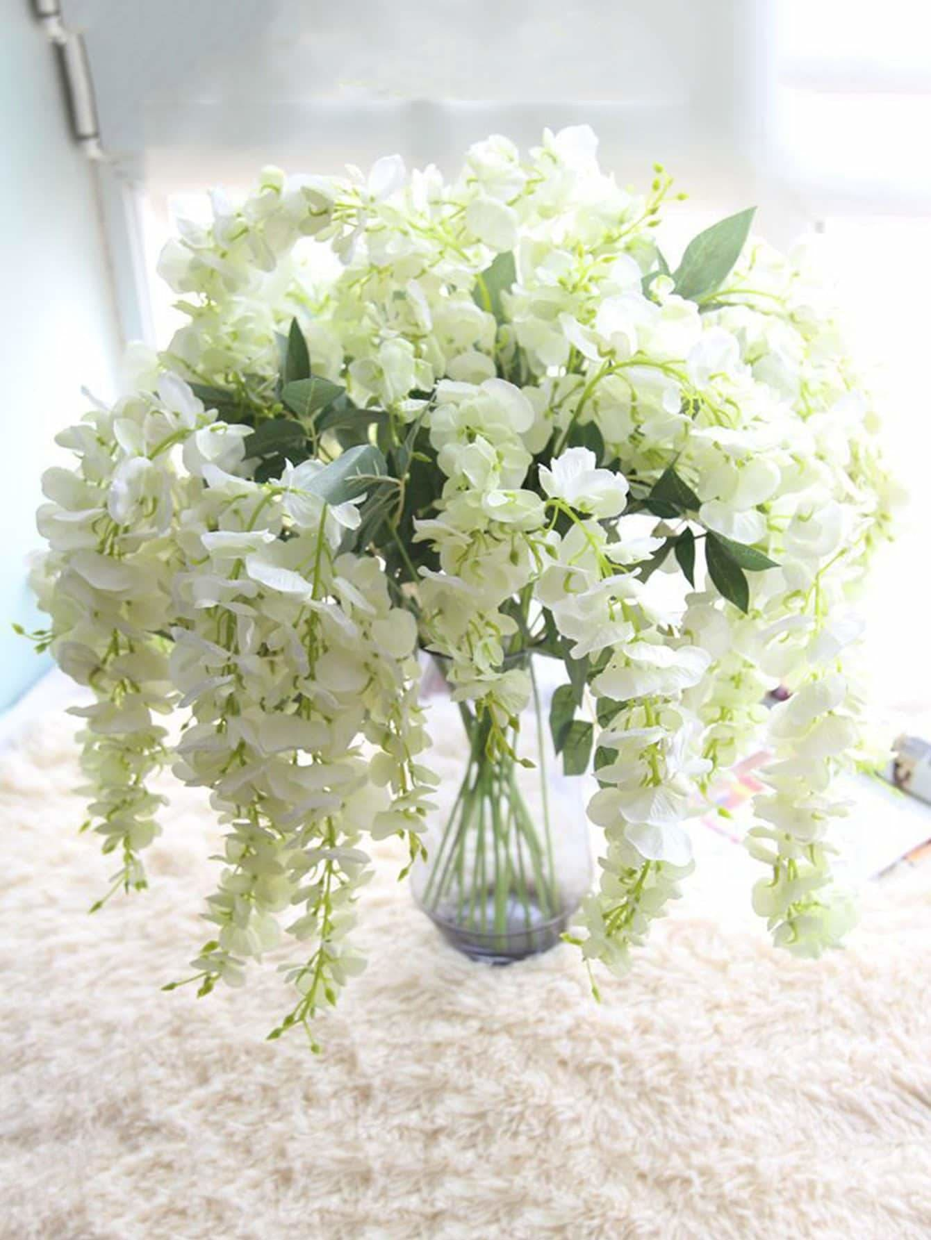 Artificial Wisteria Flowers Vine 1pc - Vases & Artificial Flowers