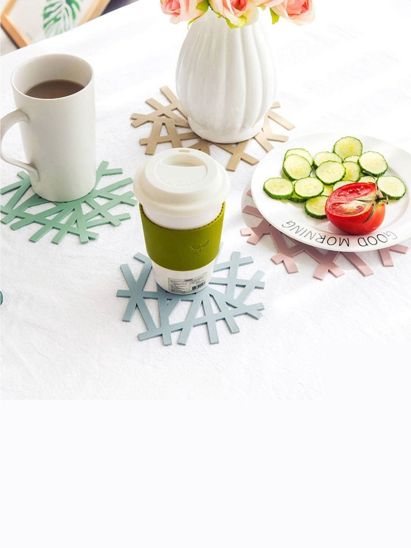 Asymmetrical Coaster 4Pcs - Dining