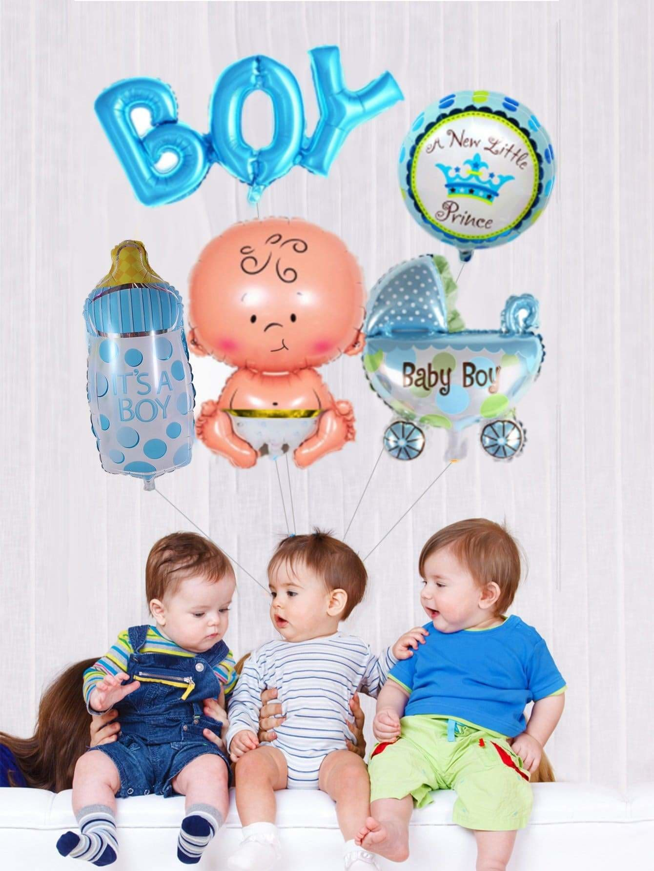 Baby Birthday Balloon Banner 5pcs - Holiday Decors