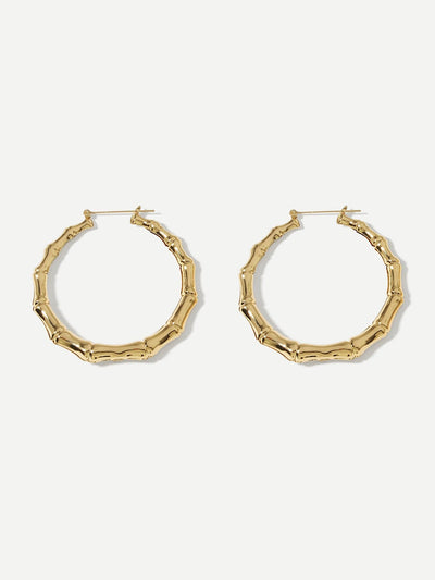 Bamboo Design Hoop Festival Earrings - Earrings