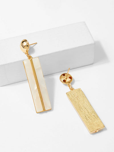 Bar & Ball Design Drop Earrings - Earrings