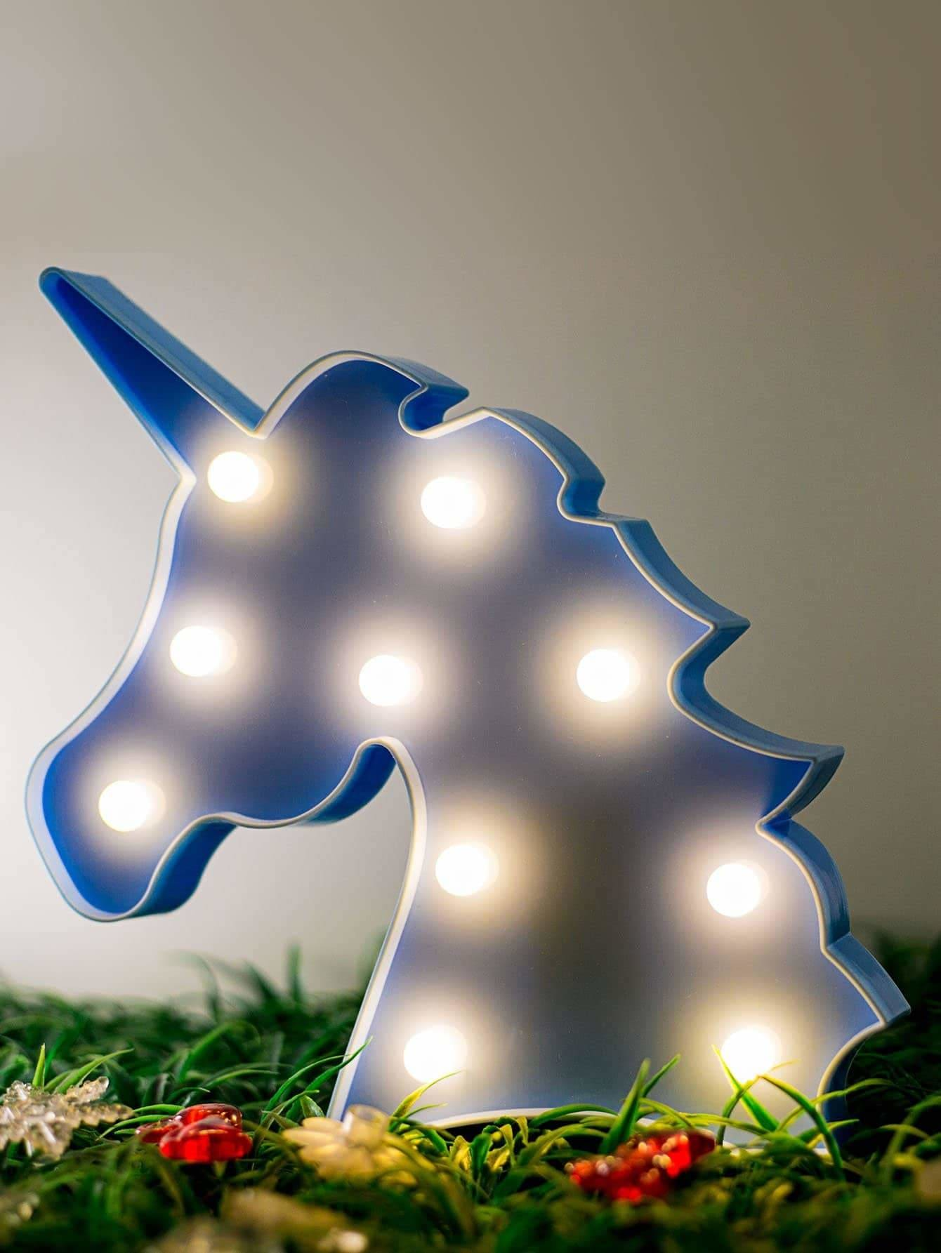 Battery Operated Unicorn Light Battery Not Include - Lighting & Lamps