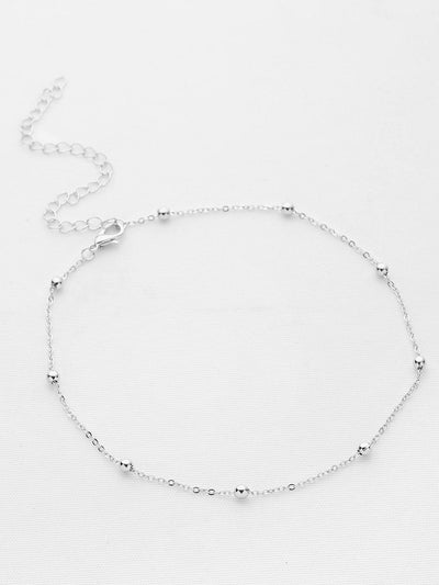 Beaded Detail Chain Choker - Necklaces