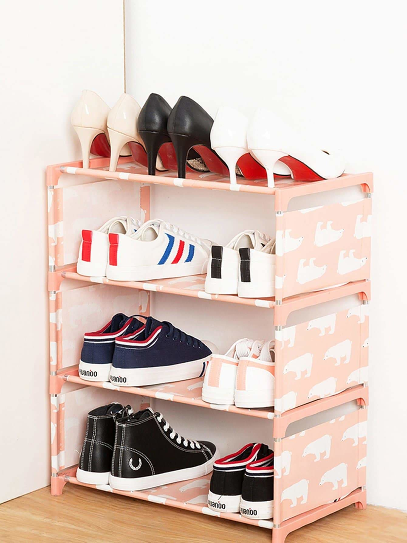 Bear Print Shoes Rack - Storage & Organization