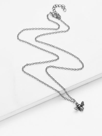 Bee Pendant Chain Necklace - Necklaces