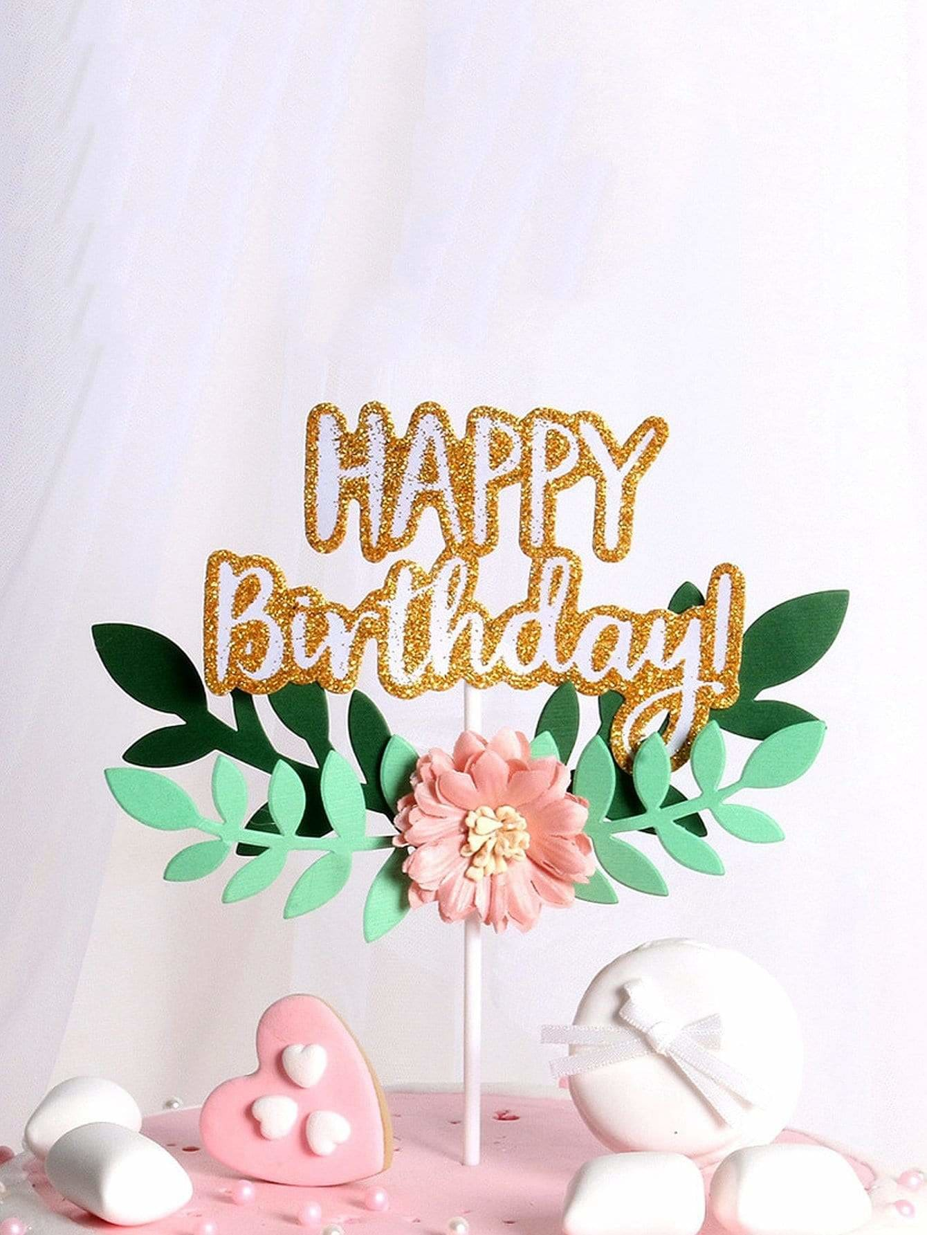 Birthday Cake Topper Decoration 1pc - Holiday Decors