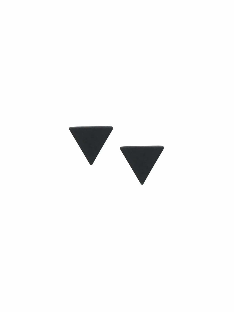 Black Minimalist Triangle Ear Studs