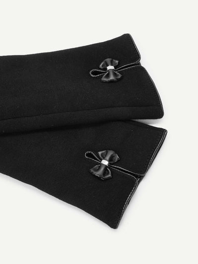 Bow Decorated Gloves - Hats & Gloves