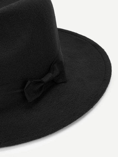 Bow Decorated Panama Hat - Hats & Gloves