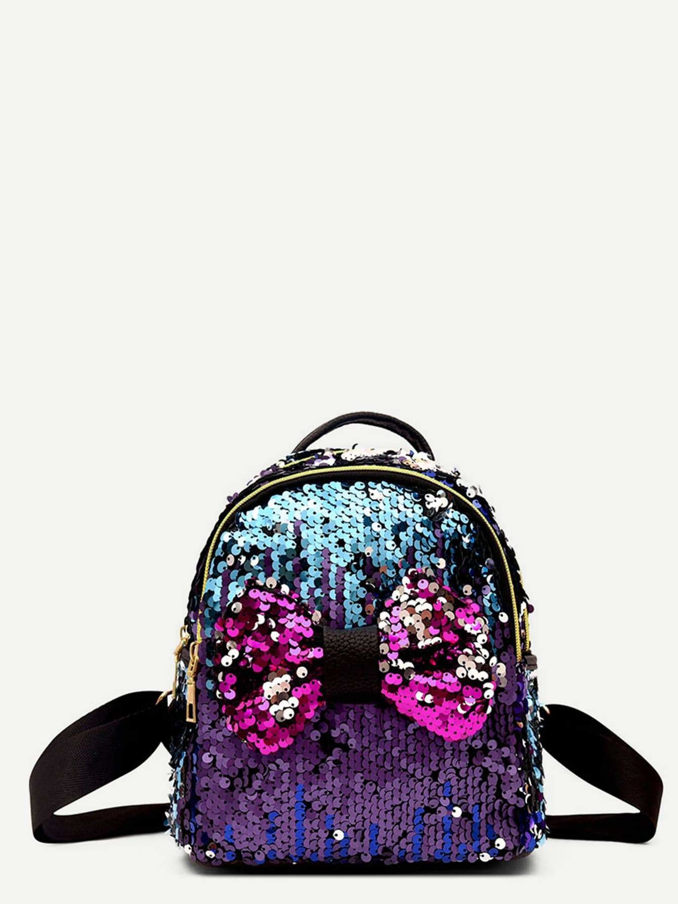 Bow Sequins Decor Festival Backpack - Womens Bag
