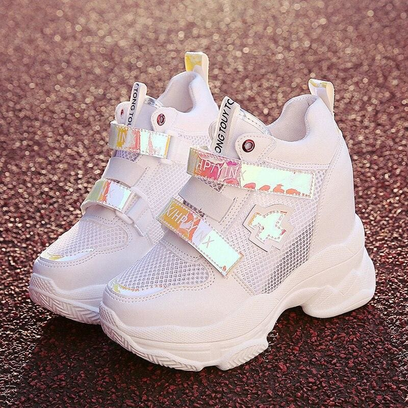 Breathable Mesh Platform Sneakers