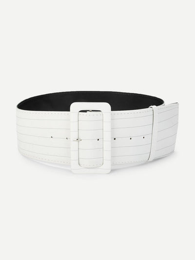 Buckle Design Belt - Belts