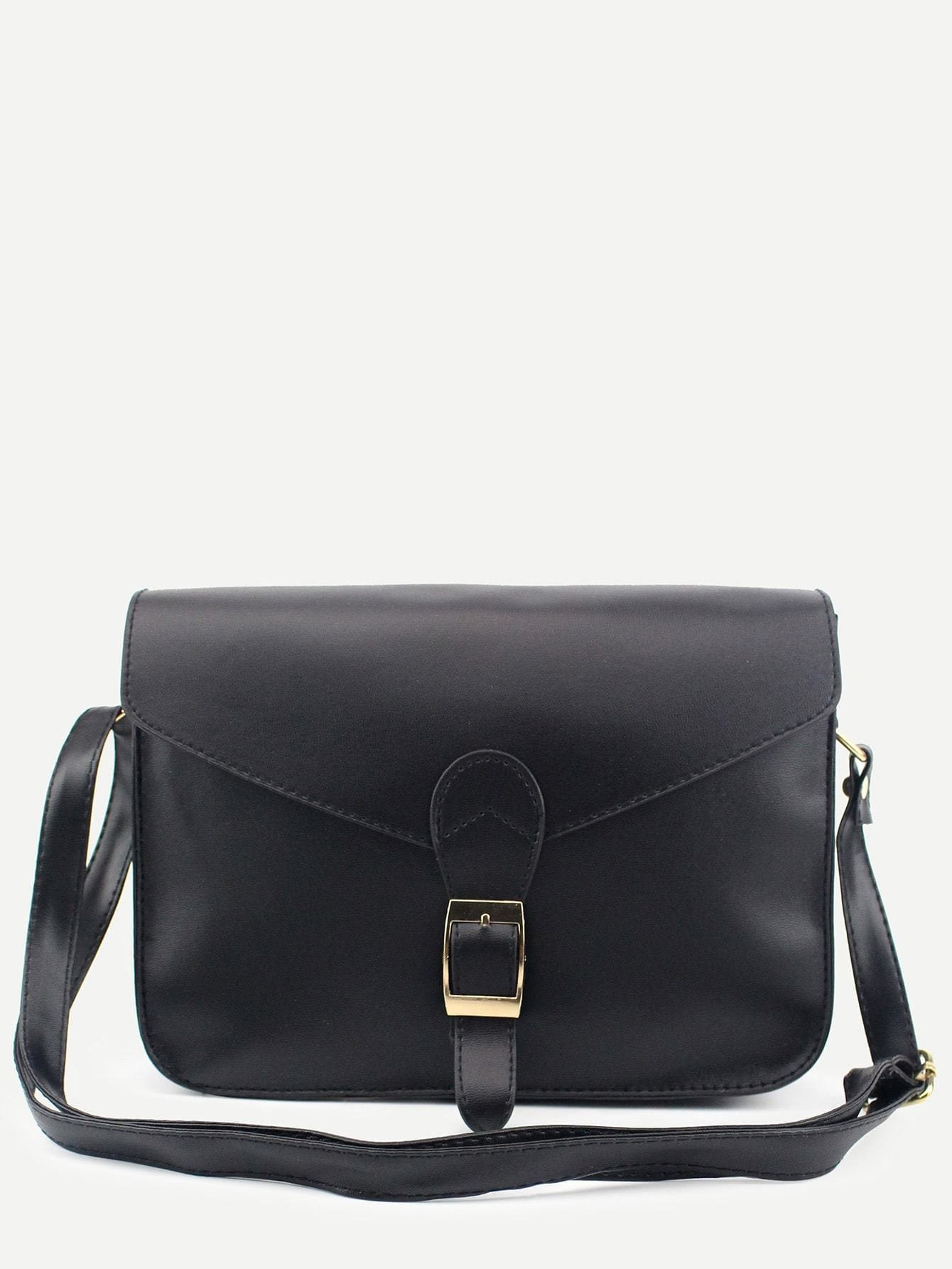 Buckle Strap Closure Envelope Crossbody Bag - Womens Bag
