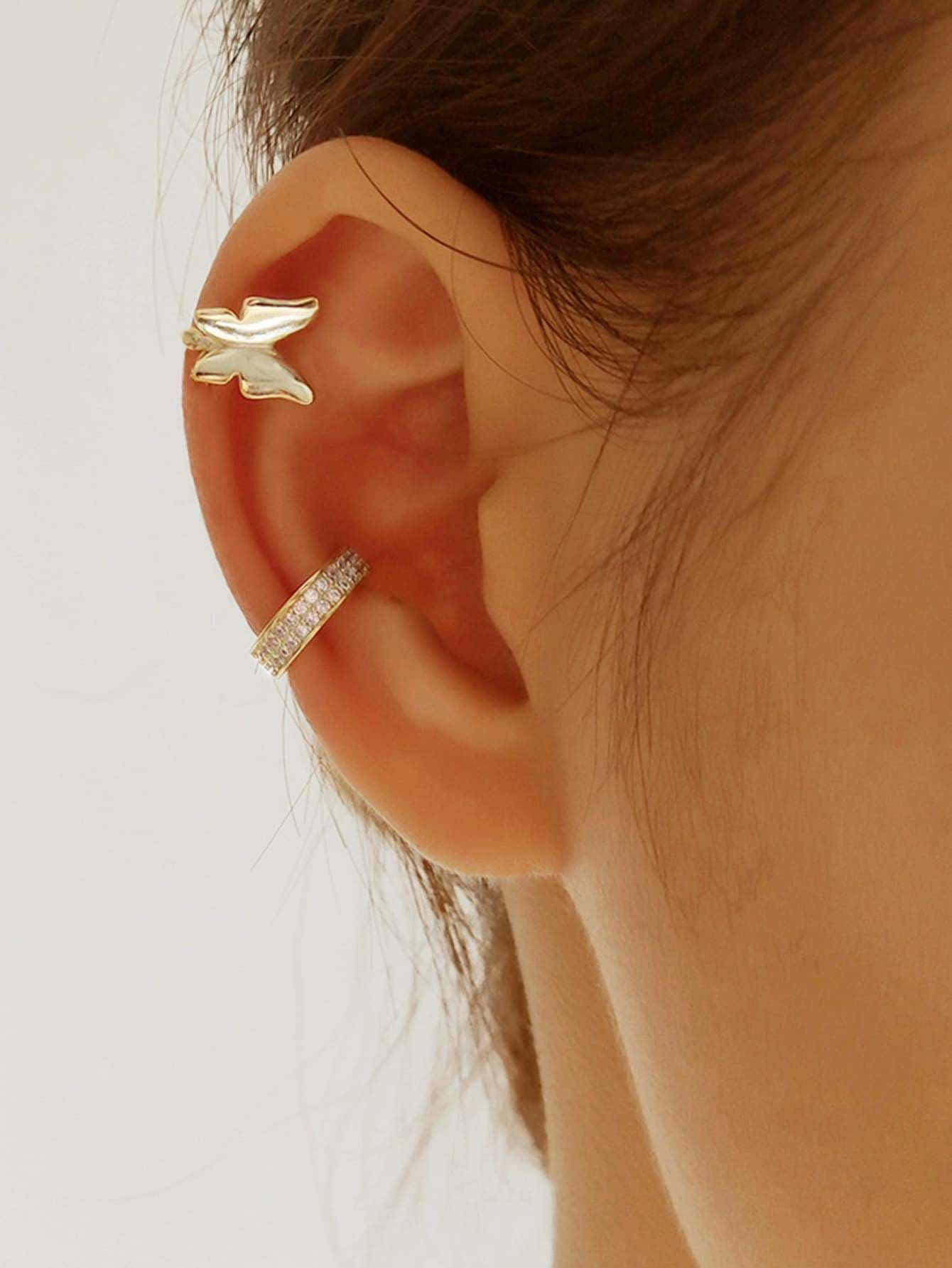 Butterfly Festival Ear Cuff 2pcs - Earrings