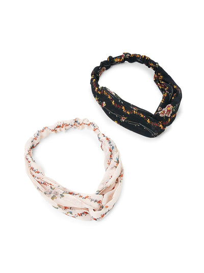 Calico Print Headband Set 2Pcs - Hair Accessories