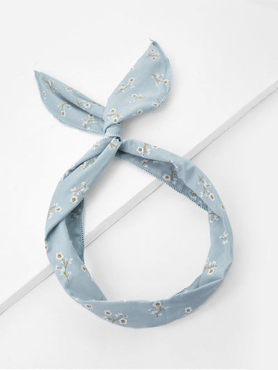 Calico Print Knot Headband - Hair Accessories