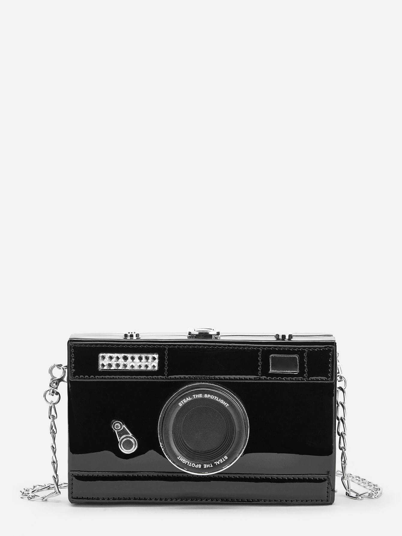 Camera Design Chain Crossbody Bag - Womens Bag