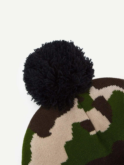 Camouflage Pattern Beanie Hat - Hats & Gloves