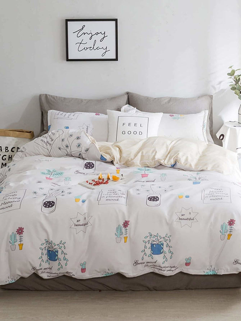 Cartoon Print Duvet Cover Set - Bedding Sets