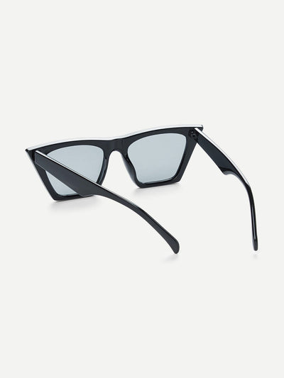 Cat Eye Flat Lens Sunglasses - Sunglasses