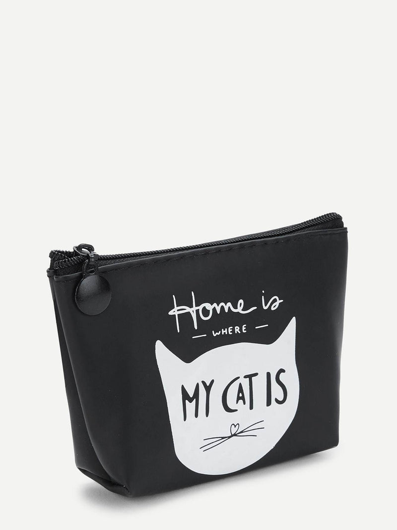 Cat Print Makeup Bag