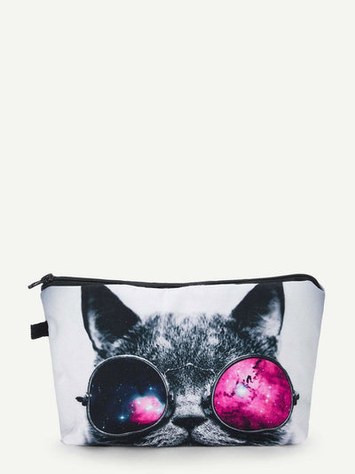 Cat Print Makeup Bag - Makeup Bags