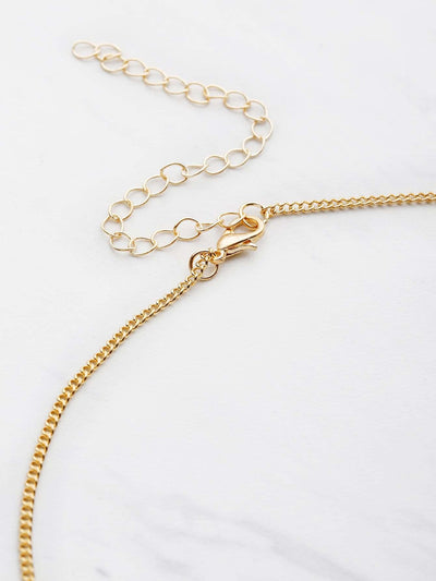 Chain Necklace With Faux Pearl - Necklaces