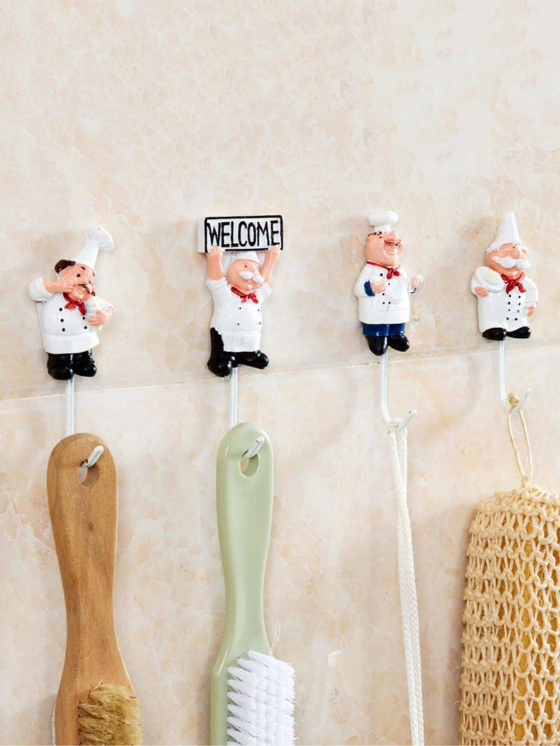 Chef Shaped Hanger 4pcs - Hangers & Organizers