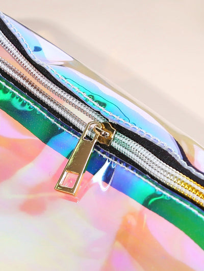 Clear Iridescent Festival Bum Bag - Womens Bag