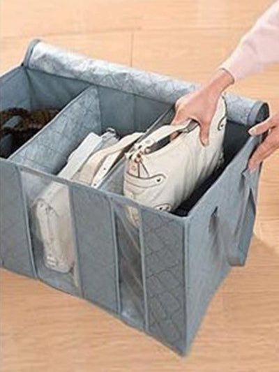 Clear Panel Zipper Storage Bag - Storage & Organization
