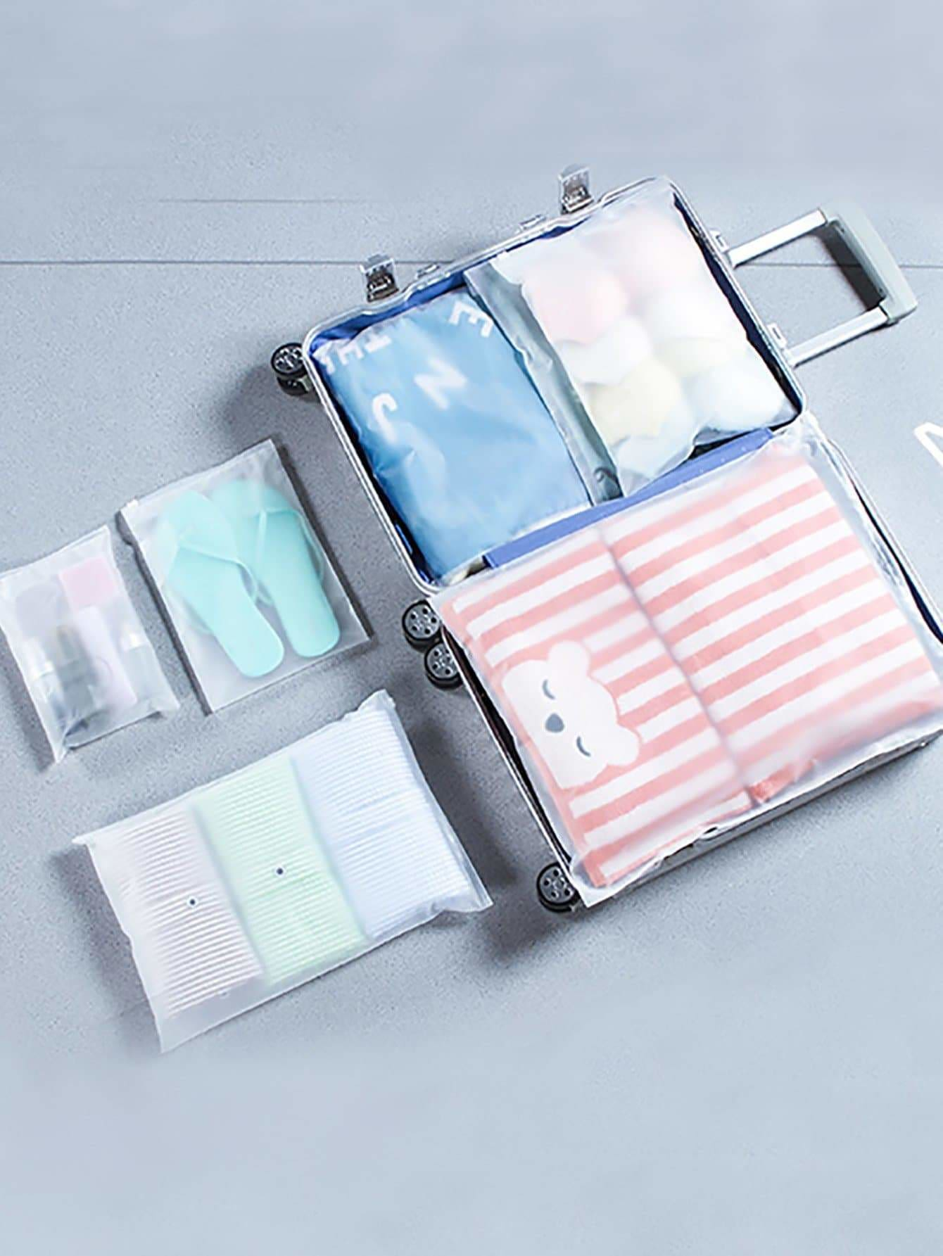 Clear Storage Bag Set 5pcs - Storage & Organization