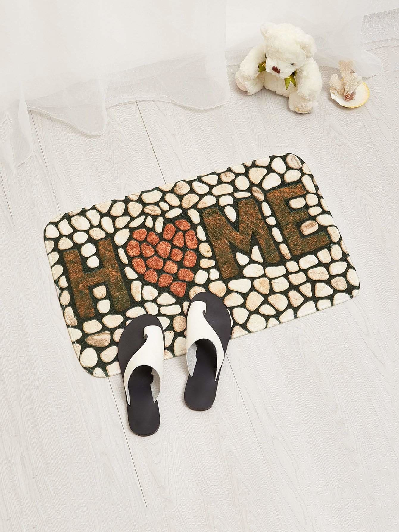 Cobblestone Home Door Mat - One-Size / Multicolor - Rugs & Mats