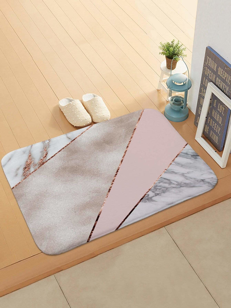Color Block Marble Pattern Doormat - Rugs & Mats