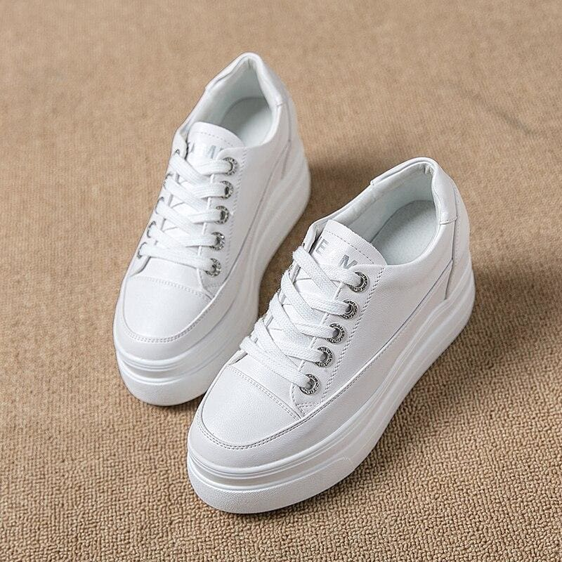 Comfortable Breathable PU Platform Sneakers