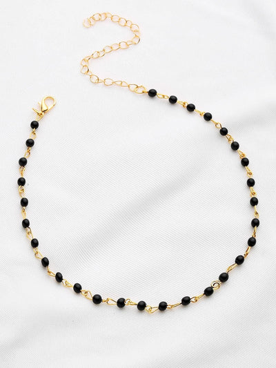 Contrast Beaded Delicate Necklace - Necklaces
