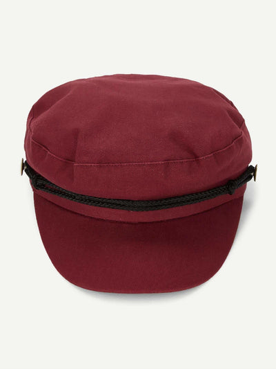 Contrast Cord Baker Boy Cap - Hats & Gloves