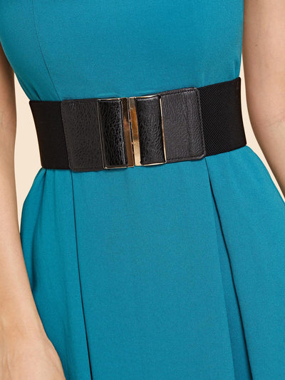 Contrast Pu Wide Belt - Belts