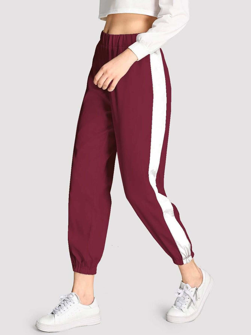 Contrast Tape Side Pants - Fittness Leggings