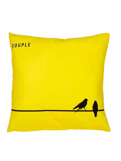 Couple Bird Print Cushion Cover - Decorative Pillows