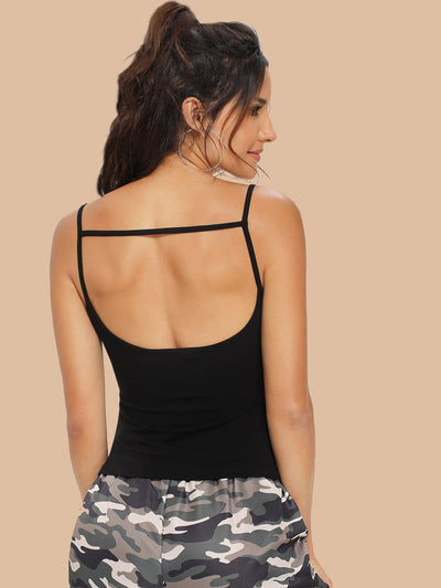 Crisscross Front Fitted Cami Top - Gym Tops