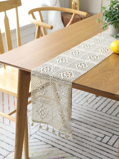 Crochet Table Runner - One-Size / White - Kitchen & Table Linens
