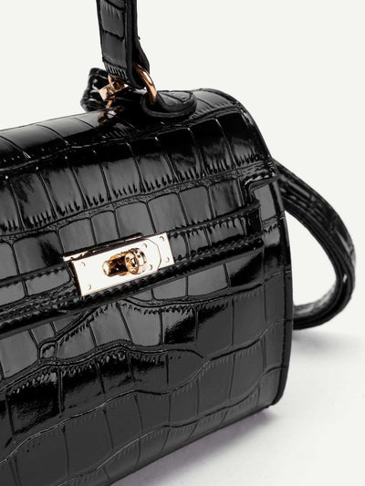 Crocodile Print Pu Shoulder Bag - Womens Bag