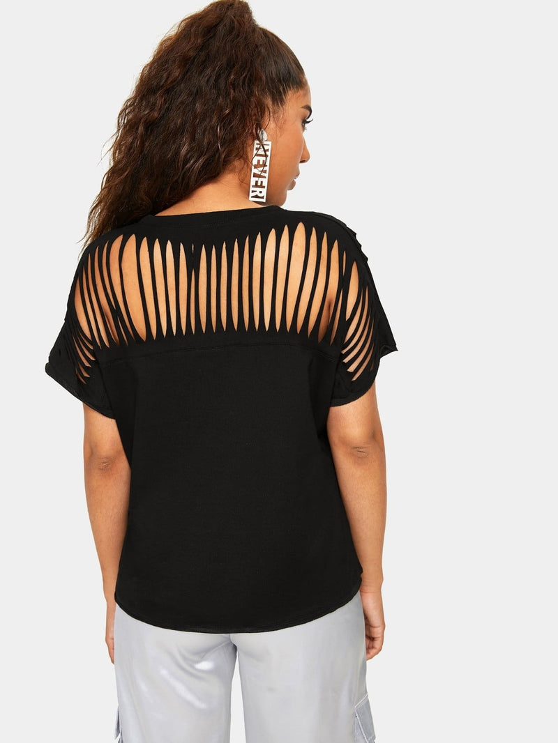 Cut Out Neck Tee