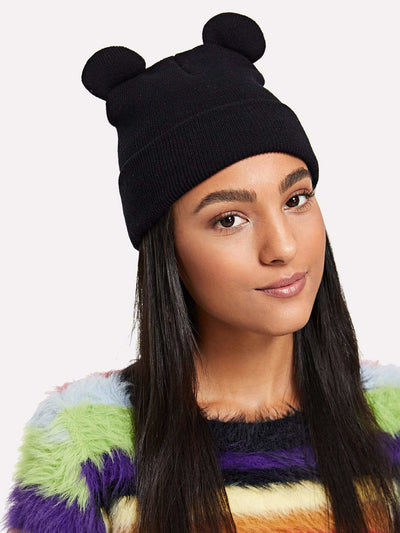 Cute Ear Knit Beanie Hat - Hats & Gloves