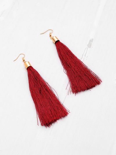 Cute Tassel Drop Earrings - Earrings