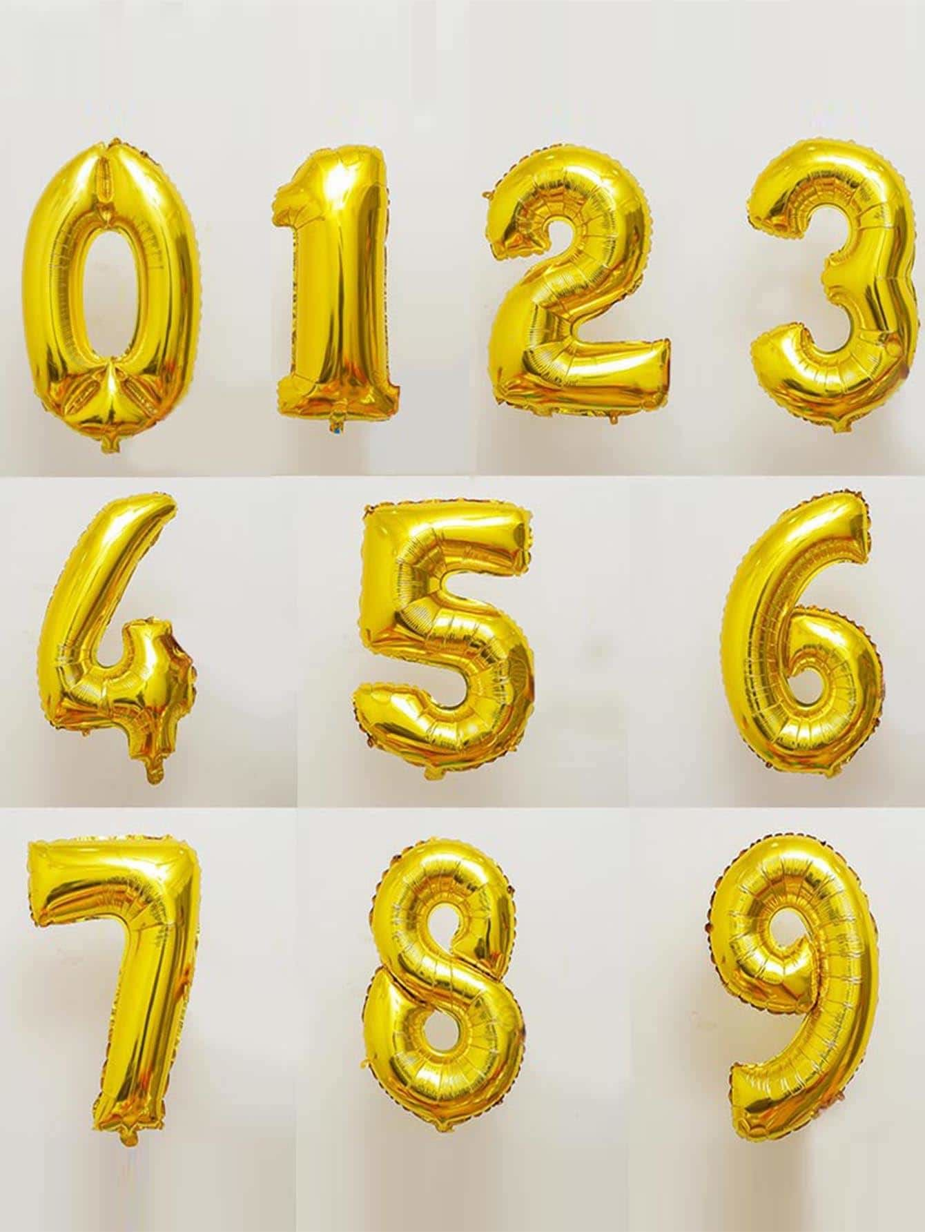 Decorative Number Balloon 1pc Gold - Holiday Decors